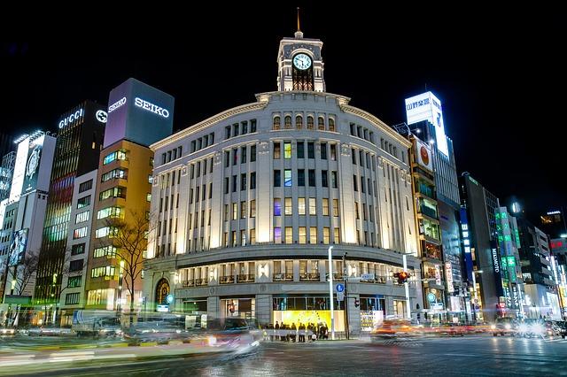 Ginza v Tokiu