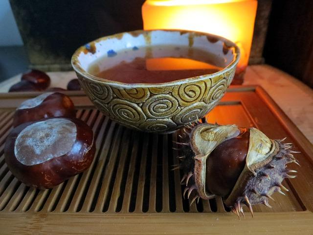 červený čaj, pohár