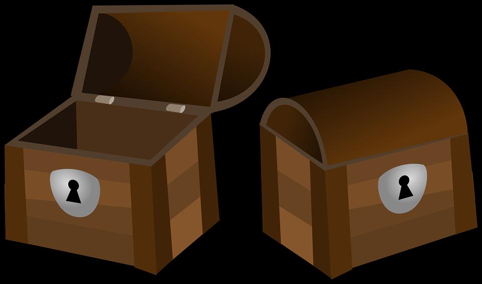 kreslené truhly